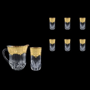 Adagio Set J+B0 F0025 1230ml+6x400ml 1+6pcs in Natalia Golden Ivory Decor (F0025-0430)