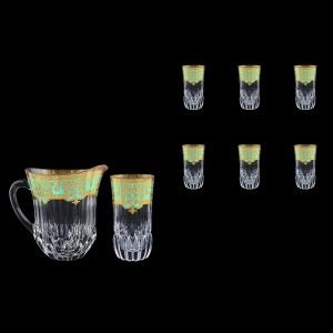Adagio Set J+B0 F002T 1230ml+6x400ml 1+6pcs in Natalia Golden Turquoise Decor (F002T-0430)