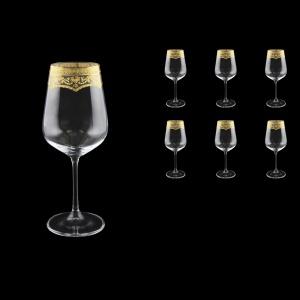Strix C2 SELK Red Wine Glasses in Flora´s Empire Golden Crystal L, 450ml, 6pcs (20-2212/L)