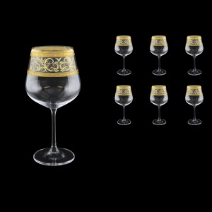 Strix CWR SALK Red Wine Glasses in Allegro Golden Crystal L., 600ml, 6pcs (65-2216/L)
