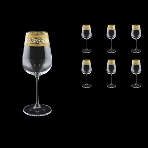 Strix C3 SALK White Wine Glasses in Allegro Golden Crystal L., 360ml, 6pcs (65-2213/L)
