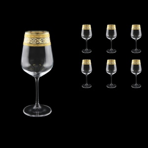 Strix C2 SALK Red Wine Glasses in Allegro Golden Crystal L, 450ml, 6pcs (65-2212/L)