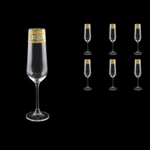 Strix CFL SALK Champagne Flute in Allegro Golden Crystal L, 200ml, 6pcs (65-2210/L)