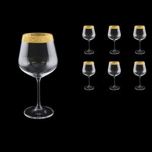 Strix CWR SNGC Red Wine Glasses in Romance Golden Classic Decor, 600ml, 6pcs (33-2216)