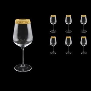 Strix C2 SNGC Red Wine Glasses in Romance Golden Classic Decor, 450ml, 6pcs (33-2212)