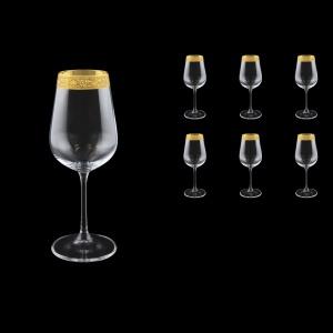 Strix C3 SNGC White Wine Glasses in Romance Golden Classic Decor, 360ml, 6pcs (33-2213)
