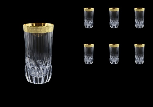 Adagio B0 AMGE Water Tumblers 400ml, 6pcs, in Lilit Golden Embossed Decor (F0031-0400)