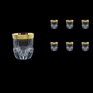 Adagio B2 AMGE Whisky Tumblers 350ml, 6pcs, in Lilit Golden Embossed Decor (F0031-0402)