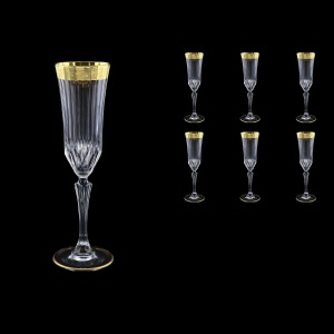 Adagio CFL AMGE Champagne Flutes 180ml, 6pcs, in Lilit Golden Embossed Decor (F0031-0410)