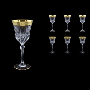 Adagio C2 AMGE Wine Stemware 280ml, 6pcs, in Lilit Golden Embossed Decor (F0031-0412)