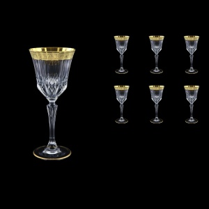 Adagio C3 AMGE Wine Stemware 220ml, 6pcs, in Lilit Golden Embossed Decor (F0031-0413)