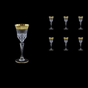 Adagio C5 AMGE Liqueur Stemware 80ml, 6pcs, in Lilit Golden Embossed Decor (F0031-0415)