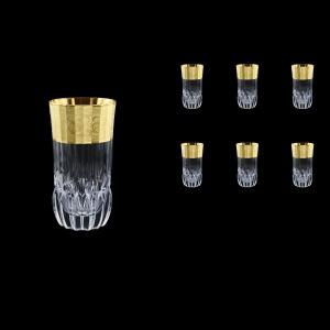Adagio B0 F0065 Water Tumblers 400ml, 6pcs, in Allegro Golden Embossed Decor (F0065-0400)