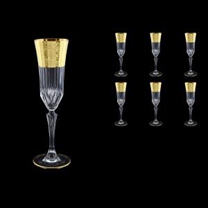 Adagio CFL F0065 Champagne Flute 180ml, 6pcs, in Allegro Golden Embossed (F0065-0410)
