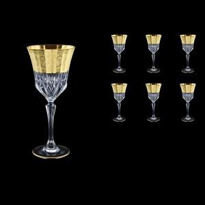 Adagio C2 F0065 Wine Stemware 280ml, 6pcs, in Allegro Golden Embossed Decor (F0065-0412)