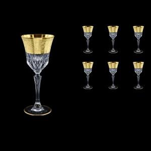 Adagio C3 F0065 Wine Stemware 220ml, 6pcs, in Allegro Golden Embossed Decor (F0065-0413)
