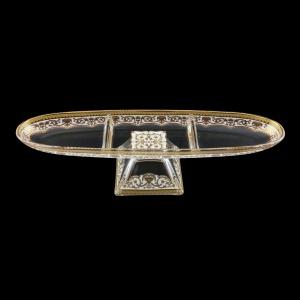Fenice DTD FEGW Three-Tray 41x11,5cm 1pc in Flora´s Empire Golden White D. (21-1H91/L)