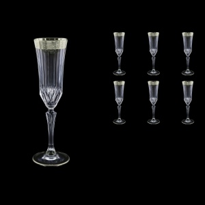 Adagio CFL F0031-1 Champagne Flutes 180ml, 6pcs, in Lilit Platinum Embossed (F0031-1-0410)