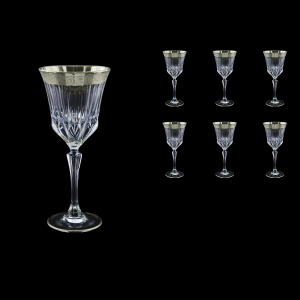 Adagio C2 F0031-1 Wine Stemware 280ml, 6pcs, in Lilit Platinum Embossed D. (F0031-1-0412)