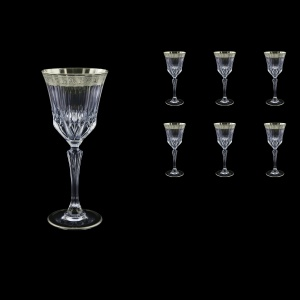 Adagio C3 F0031-1 Wine Stemware 220ml, 6pcs, in Lilit Platinum Embossed D. (F0031-1-0413)
