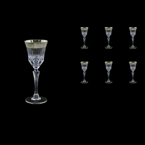 Adagio C5 F0031-1 Liqueur Stemware 80ml, 6pcs, in Lilit Platinum Embossed (F0031-1-0415)