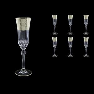 Adagio CFL F0065-1 Champagne Flute 180ml, 6pcs, in Allegro Platin. Embossed (F0065-1-0410)