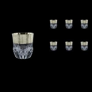 Adagio B2 F0065-1 Whisky Tumblers 350ml, 6pcs, in Allegro Platin. Embossed (F0065-1-0402)