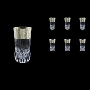 Adagio B0 F0065-1 Water Tumblers 400ml, 6pcs, in Allegro Platin. Embossed (F0065-1-0400)