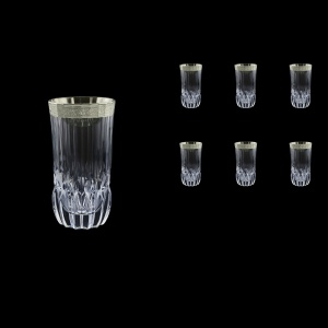Adagio B0 F0031-1 Water Tumblers 400ml, 6pcs, in Lilit Platinum Embossed D. (F0031-1-0400)