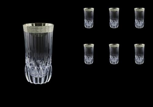 Adagio B0 F0031-1 Water Tumblers 400ml, 6pcs, in Lilit Platinum Embossed D. (F0031-1-0400)