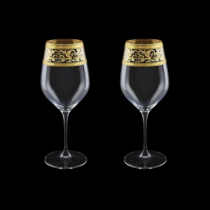 Supreme CWX SALK Bordeaux Glass 810ml, 2pcs in Allegro Golden Light Decor (65-4016/2/L)