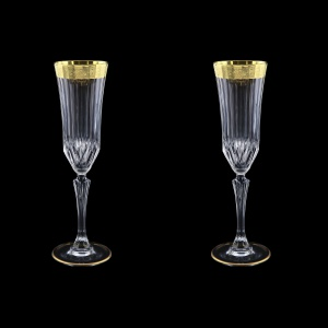 Adagio CFL AMGE Champagne Flutes 180ml, 2pcs, in Lilit Golden Embossed D. (F0031-0410=2)