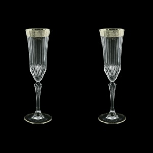 Adagio CFL F0031-1 Champagne Flutes 180ml, 2pcs, in Lilit Plat. Embossed (F0031-1-0410=2)