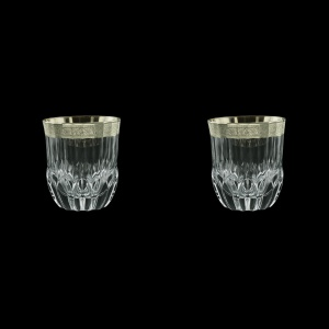Adagio B2 F0031-1 Whisky Tumblers 350ml, 2pcs, in Lilit Platinum Embossed (F0031-1-0402=2)