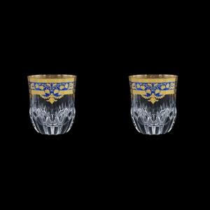 Adagio B2 F0023 Whisky Glasses 350ml 2pcs in Natalia Golden Blue Decor (F0023-0402=2)