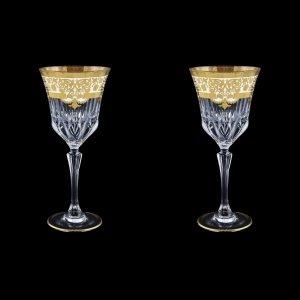 Adagio C2 F0021 Wine Glasses 280ml 2pcs in Natalia Golden White Decor (F0021-0412=2)