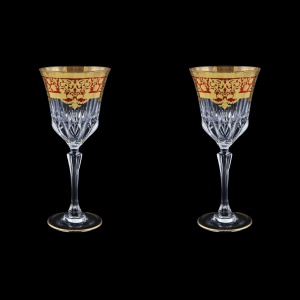 Adagio C2 F0022 Wine Glasses 280ml 2pcs in Natalia Golden Red Decor (F0022-0412=2)