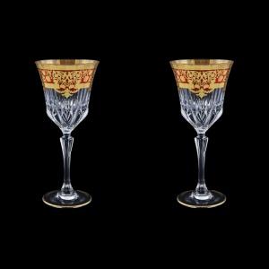 Adagio C2 F0022 Wine Glasses 280ml 2pcs in Natalia Golden Red Decor (F0022-0412=2)