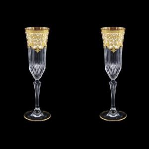 Adagio CFL F0021 Champagne Flutes 180ml 2pcs in Natalia Golden White Decor (F0021-0410=2)