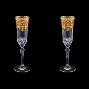 Adagio CFL F0022 Champagne Flutes 180ml 2pcs in Natalia Golden Red Decor (F0022-0410=2)