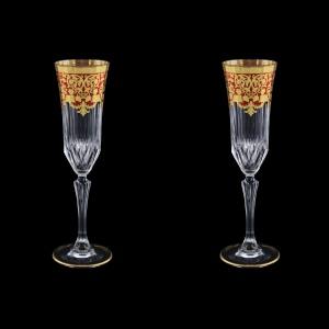 Adagio CFL F0022 Champagne Flutes 180ml 2pcs in Natalia Golden Red Decor (F0022-0410=2)