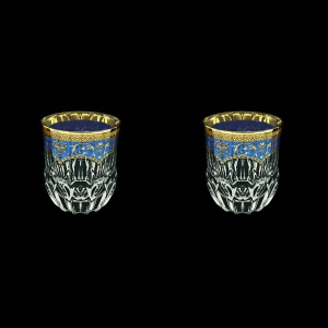 Adagio B2 AEGC Whisky Glasses 350ml 2pcs in Flora´s Empire Golden Blue Decor (23-595/2)