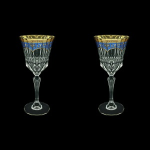 Adagio C2 AEGC Wine Glasses 280ml 2pcs in Flora´s Empire Golden Blue Decor (23-593/2)