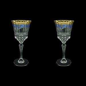 Adagio C2 AEGC Wine Glasses 280ml 2pcs in Flora´s Empire Golden Blue Decor (23-593/2)