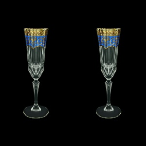 Adagio CFL AEGC Champagne Flutes 180ml 2pcs in Flora´s Empire Golden Blue Decor (23-594/2)