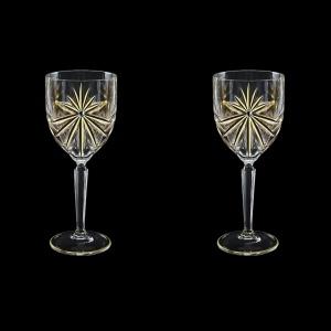 Oasis C2 OOG KCR Wine Glasses 290ml 2pcs in Full Star Gold+KCR (1304/2/KCR)