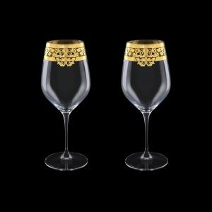 Supreme CWX F0020 Bordeaux Glass 810ml,2pcs in Natalia Golden Crystal Decor (F0020-4016=2)