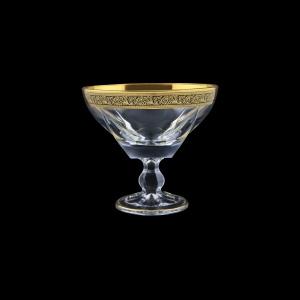 Fusion MMH FMGB CH Small Bowl w/F d13cm 1pc in Lilit Golden Black Decor (31-016J)