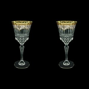 Adagio C2 AEGW Wine Glasses 280ml 2pcs in Flora´s Empire Golden White Decor (21-593/2)