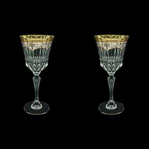 Adagio C2 AEGW Wine Glasses 280ml 2pcs in Flora´s Empire Golden White Decor (21-593/2)